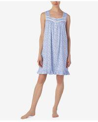 Eileen West - Venise-lace Cotton Knit Nightgown - Lyst