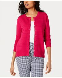 Charter Club Textured Cardigan, Created For Macy's - Pink