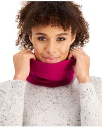Charter Club Cashmere Solid Gaiter Facemask, Created For Macy's - Purple