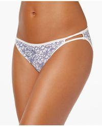 Vanity Fair Illumination String Bikini Underwear 18108 - Blue