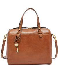 Fossil Rachel Small Leather Satchel - Brown