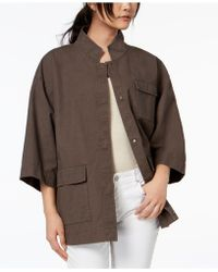 Eileen Fisher - Organic Mandarin-collar Jacket - Lyst