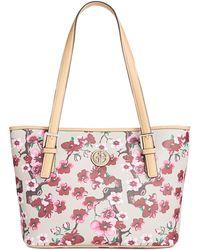Giani Bernini | Cherry Blossom Saffiano Small Tote | Lyst