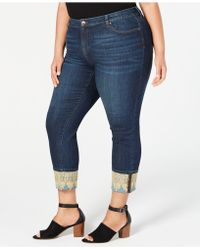 Style & Co. - Plus Size Lace-cuffed Boyfriend Jeans, Created For Macy's - Lyst