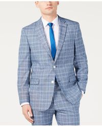 e77522175 Lyst - Ted Baker Tailored Fit Blue Bold Check Waistcoat in Blue for Men