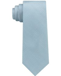 DKNY Geometric Neat Slim Silk Tie - Blue