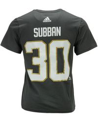 adidas - Malcolm Subban Vegas Golden Knights Silver Player T-shirt - Lyst