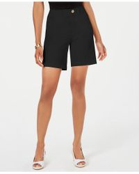 Charter Club Relaxed Shorts, Created For Macy's - Black