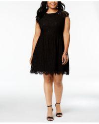 Kensie - Plus Size Lace Fit & Flare Dress - Lyst