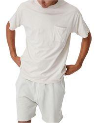 Cotton On Washed Pocket T-shirt - White