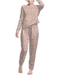 Champion Long-sleeve Top & Jogger Pants Pajama Set - Pink