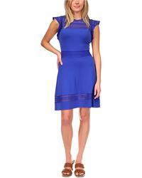 Michael Kors Michael Mesh-inset Dress, Regular & Petite Sizes - Blue