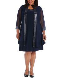 R & M Richards - Plus Size Embellished Dress & Illusion Jacket - Lyst
