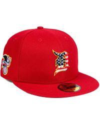 KTZ - Detroit Tigers Stars And Stripes 59fifty Fitted Cap - Lyst da624963668b