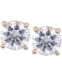 Anne Klein - Gold-tone Crystal Stud Earrings - Lyst