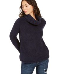 Style & Co. - Petite Faux-sherpa Cowlneck Sweater, Created For Macy's - Lyst