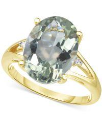 Macy's - Prasiolite (4-1/2 Ct. T.w.) & Diamond Accent Ring In 14k Gold - Lyst