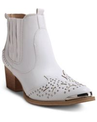 Wanted Lonestar Western Inspired Ankle Bootie - White