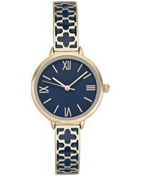 Charter Club Gold-tone & Enamel Bracelet Watch 34mm, Created For Macy's - Metallic