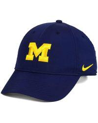 new product 91715 3df32 Nike - Michigan Wolverines Dri-fit Adjustable Cap - Lyst