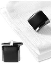 Kenneth Cole Reaction Cufflinks, Polished Hematite Boxed Set - Black
