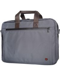 Token Lawrence Large Laptop Bag With Back Zipper - Gray