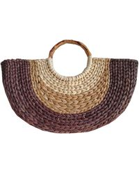 INC International Concepts Inc Straw Fan Tote, Created For Macy's - Natural