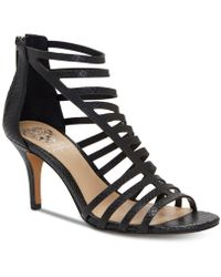 Vince Camuto Women's Petronia High - Heel Cage Sandals - Black