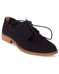 Wanted Babe Knit Oxford Shoes - Black