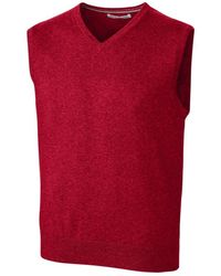 Cutter & Buck Lakemont Sweater Vest - Red