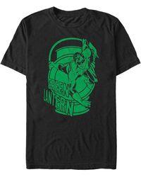 Fifth Sun Green Lantern Big Logo Short Sleeve T-shirt - Black