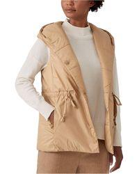 Eileen Fisher Hooded Vest - Natural