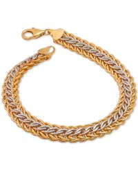 Macy's | Mesh Bracelet In 14k Gold Over Sterling Silver And Sterling Silver | Lyst