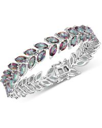 Macy's Mystic Quartz Marquise Link Bracelet (20 Ct. T.w.) In Sterling Silver - Metallic