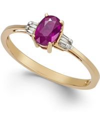 Macy's Ruby (5/8 Ct. T.w.) & Diamond Accent Solitaire Ring In 14k Gold - Red