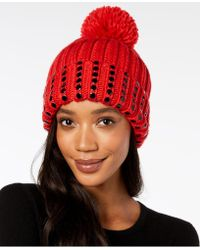 bb1101ee549 Lyst - DKNY Double Ply Cashmere Beanie
