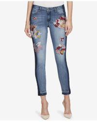 William Rast - Embroidered Skinny Jeans - Lyst