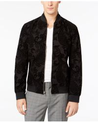 INC International Concepts - Flocked Paisley Full-zip Bomber Jacket, Created For Macy's - Lyst