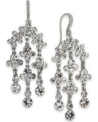 0eefc76f6 INC International Concepts - I.n.c. Silver-tone Crystal Chandelier Earrings,  Created For Macy's -