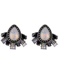 Nicole Miller Cluster Stud Earring - Metallic