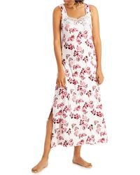 Charter Club Petite Lace-trim Sleeveless Maxi Nightgown, Created For Macy's - Multicolor