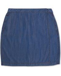 Charter Club Denim Wrap-style Mini Skirt, Created For Macy's - Blue