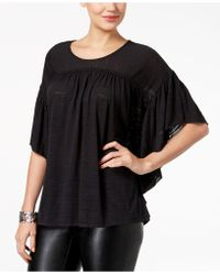 Style & Co. - Flutter-sleeve Poncho Top - Lyst