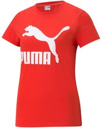 PUMA - Classics Logo T-shirt - Lyst