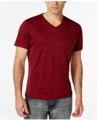 Alfani - Men's V-neck Heathered Short-sleeve T-shirt - Lyst