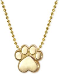 """Alex Woo - Activist's Paw 16"""" Pendant Necklace In 14k Gold - Lyst"""