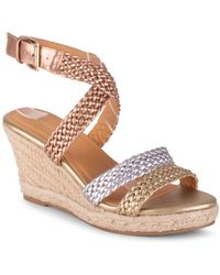Wanted Dior Strappy Wedge Sandal - Multicolor