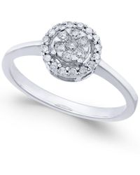 Macy's - Diamond Cluster Promise Ring (1/4 Ct. T.w.) In 10k White Gold - Lyst