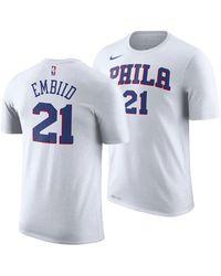 0f90317f7a4e43 Nike - Joel Embiid Philadelphia 76ers Earned Edition Player T-shirt - Lyst