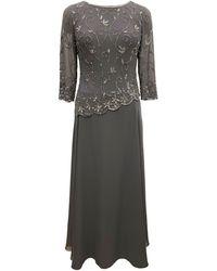 J Kara Beaded-overlay Gown - Multicolor